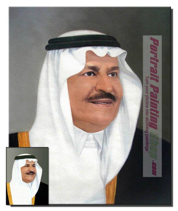 Saudi Arabia portrait painting