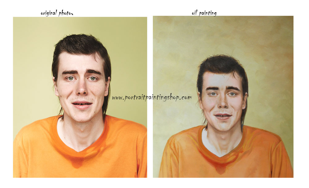 Custom oil paintings; Portrait Painting from a Photo