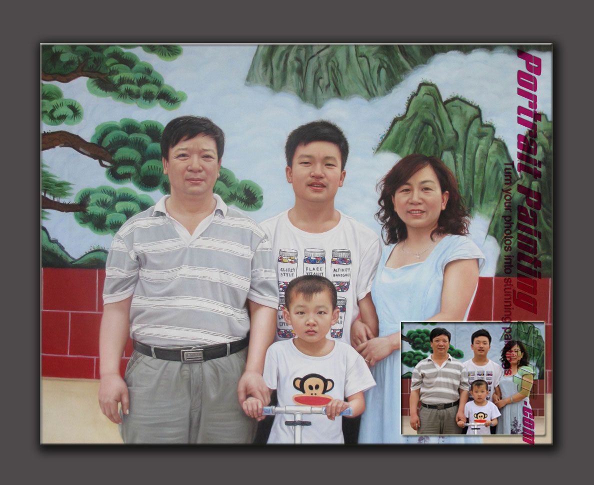 Custom Family Portrait Painting - retain childhood memories