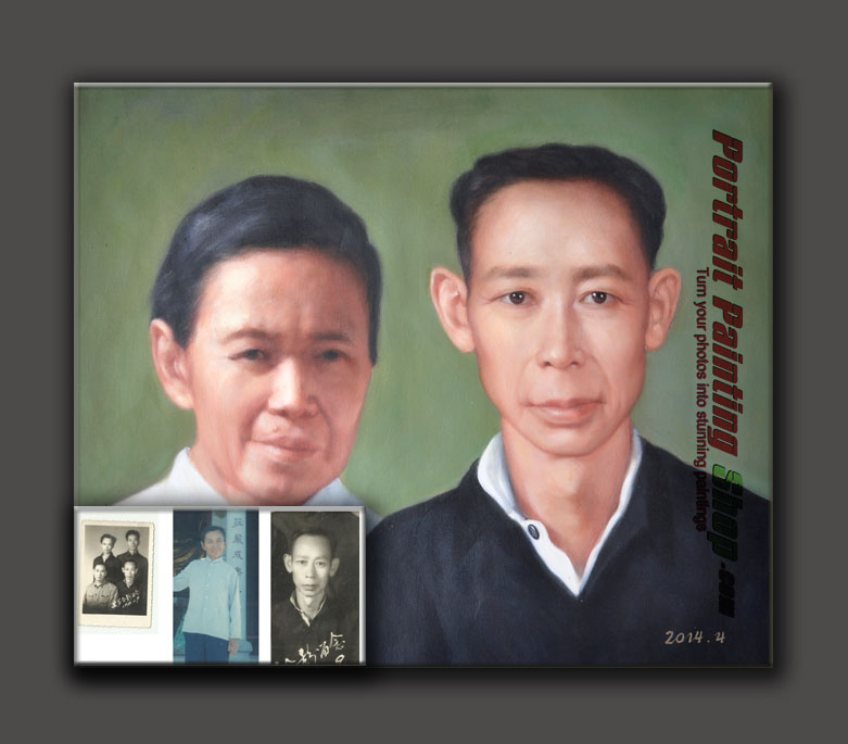 Oil painting from old photo can be stored for a long time