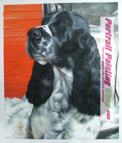 Pet Oil Paintings- Custom dog painting from photo