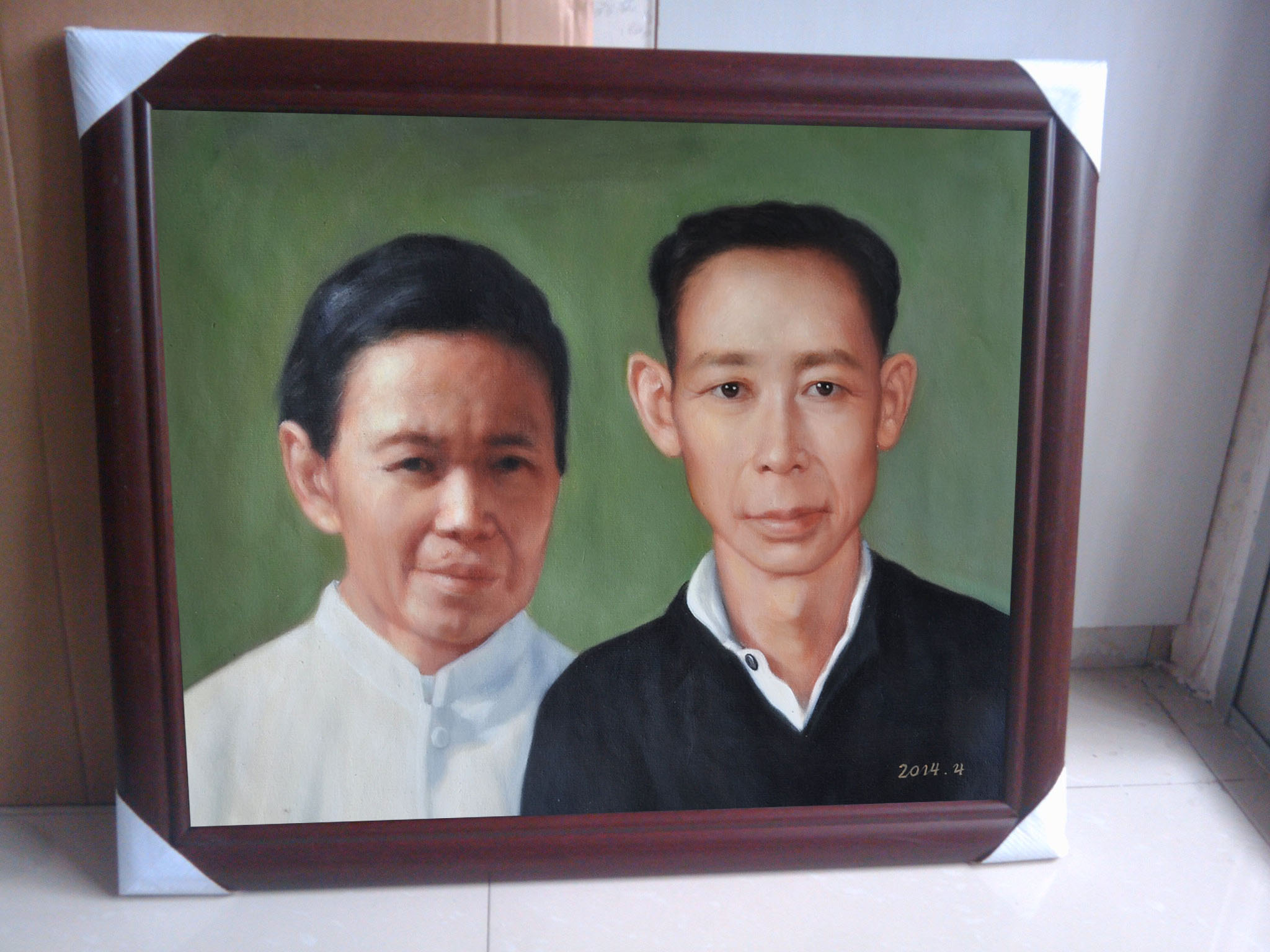 Portrait Painting from Old photograph with frame 1